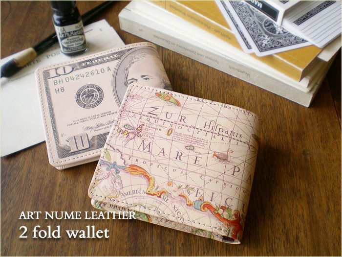 アートヌメレザー二つ折り財布