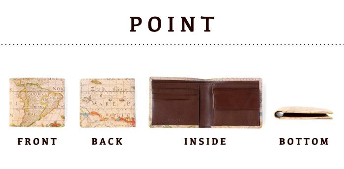 アートヌメレザー二つ折り財布の使い勝手のいいポイントを紹介