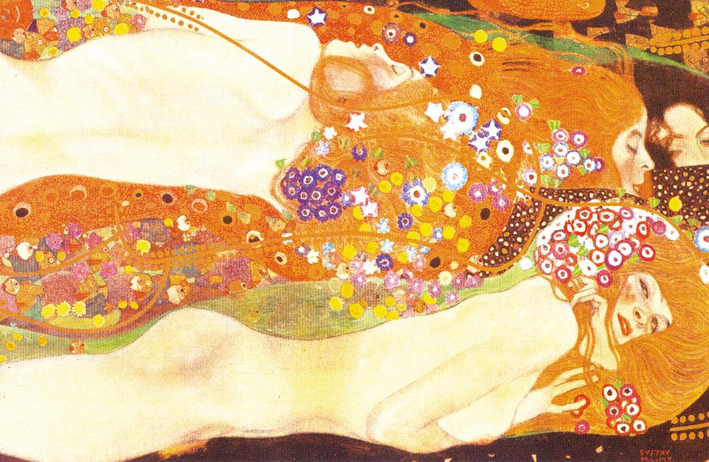 デザイン:グスタフ・クリムト「水蛇」(Wasserschlangen2)1904-1907