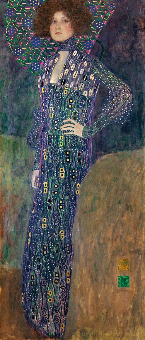デザイン:グスタフ・クリムト「エミーリエ・フレーゲの肖像」(Boldnis Emilie Flöge)1902