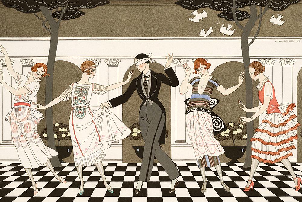 デザイン:「恋は盲目」(L'Amour Est Aveugle)1920