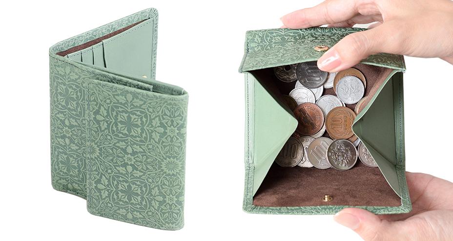 小銭がみやすいBOX型小銭入れ