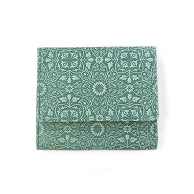 モリス◆BOX小銭入れ付き二つ折り財布<キャメル・チョコ・グリーン・ターコイズ>
