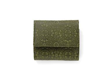 BOX小銭入れ付き二つ折り財布<モリス グリーン>