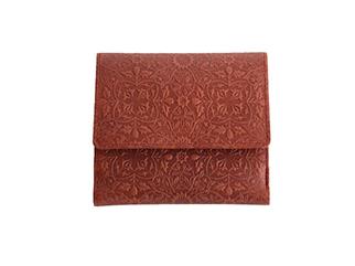 BOX小銭入れ付き二つ折り財布<モリス レッド>