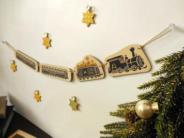 クリスマスオーナメント<汽車>