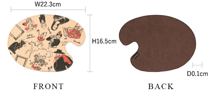 マウスパッド ギャラリー 各部の詳細なサイズ ※初回生産分のみブランドタグの位置が右上となります。