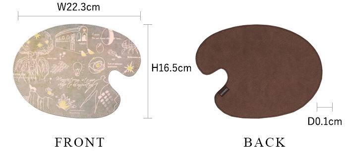 マウスパッド ソウゾウ 各部の詳細なサイズ ※初回生産分のみブランドタグの位置が右上となります。