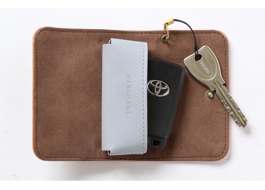車と自宅の鍵を一緒に