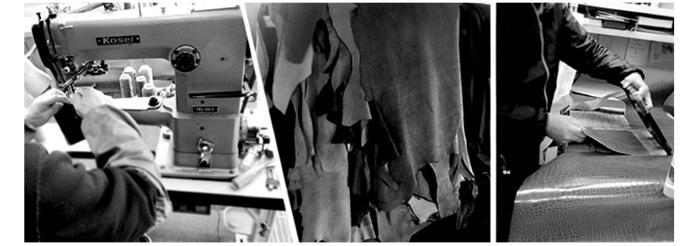 HIRAMEKI.の革製品の制作風景