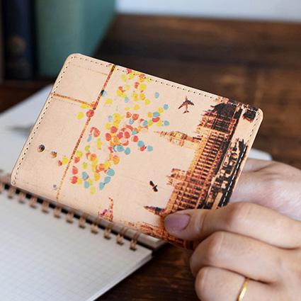 アートヌメレザー カードケース(名刺入れ)<ノイジーロンドン>