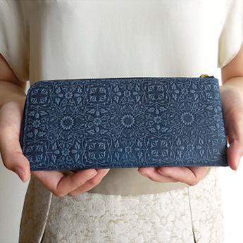 モリス L型長財布<ネイビー>