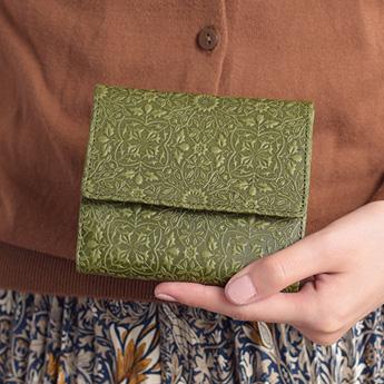 モリス 二つ折り財布<グリーン>