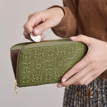 モリス L型長財布 <グリーン>