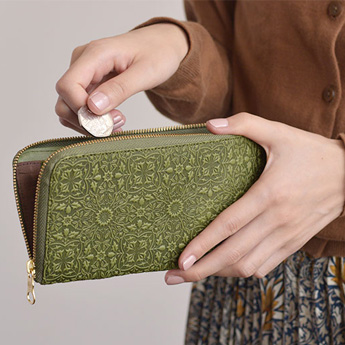 モリス L型長財布<グリーン>