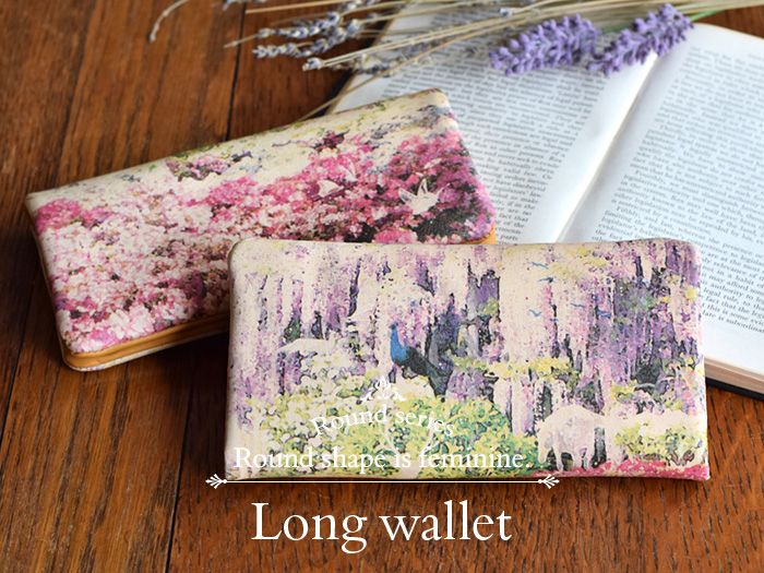 Round series Long wallet