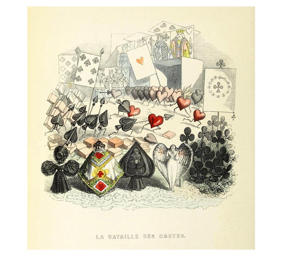 「カードの戦い」(La bataille des cartes.)のイメージ
