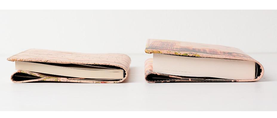 厚みの異なる本に使用時のイメージ