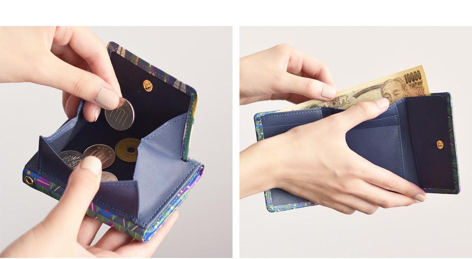 プチウォレット エミーリエ BOX小銭入れ、札入れ使用イメージ