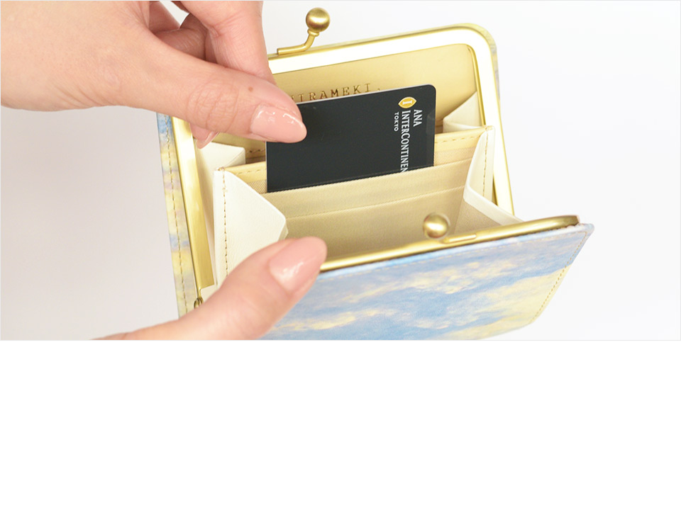縦入れのカードポケットの使用イメージ