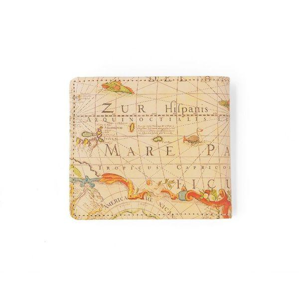 二つ折り財布 アンティークマップ