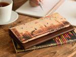 上質なヌメ革に、アートなデザインを 直接施したアートヌメレザーシリーズの、 長財布です。