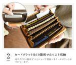 両サイドに4か所ずつとジャバラ背面にもカードポケットが付いています。