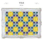タイルデザインは、トルコやインドを彷彿とさせるオリエンタルなデザインで、黄色や青や緑のオシャレな色使いが異国の雰囲気を漂わせています。 よく見るとただのパターン柄ではなく、HIRAMEKI.の「H」が組み合わさって出来ている遊びが隠れています。