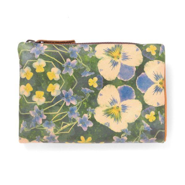 L型ファスナー折り財布「ビオラブルー」
