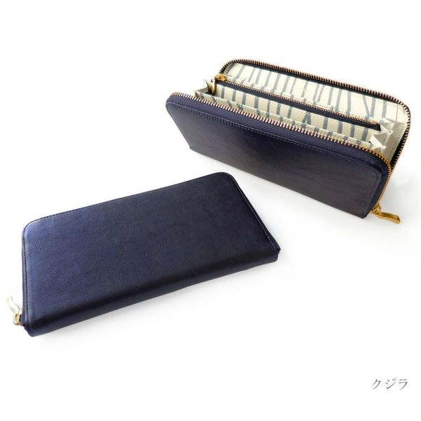 Blue-art ブルーアート◆ラウンドファスナー長財布 クジラ