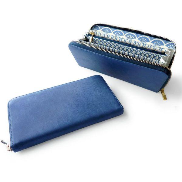 Blue-art ブルーアート◆ラウンドファスナー長財布 キリコ