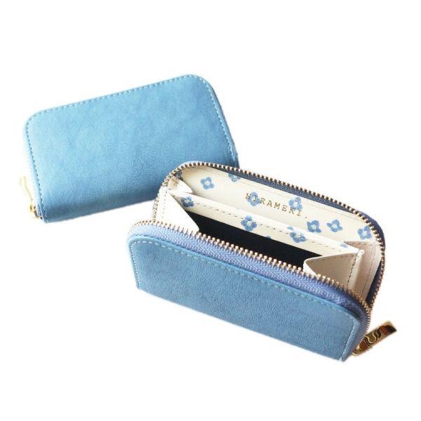 Blue-art ブルーアート◆ファスナー小銭入れ オオイヌノフグリ