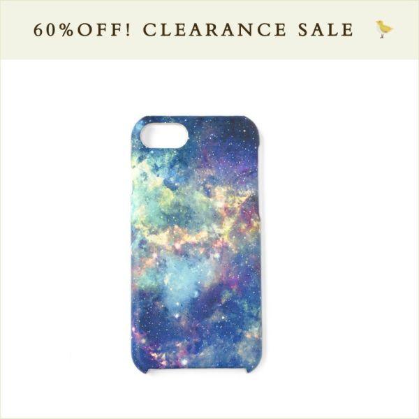 ホワイトキャンバス◆iPhone8/7ケース 宇宙