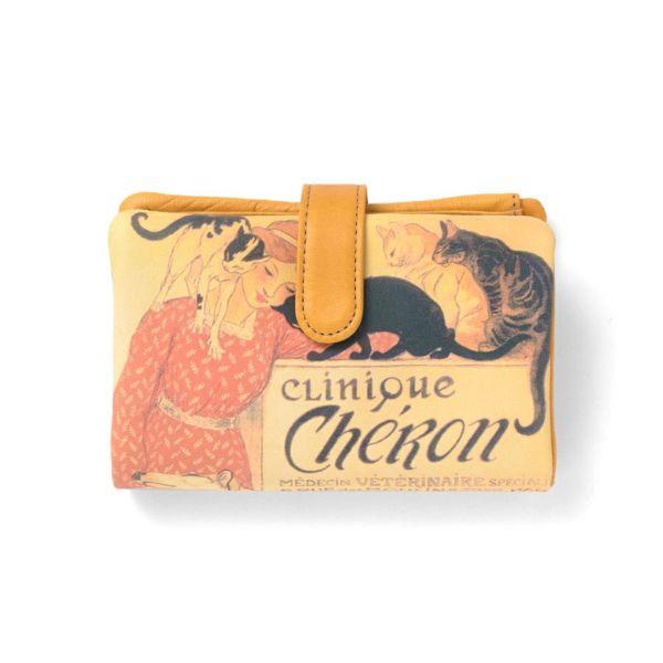 ベロ付き折り財布「スタンラン イヌネコ」の白抜き写真です