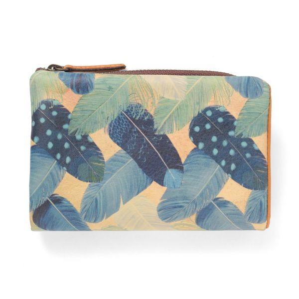 L型ファスナー折り財布(二つ折り財布) フェザーカーテン