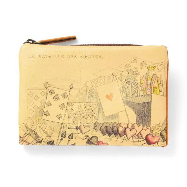 L型ファスナー折り財布「トランプ」の白抜き写真です。